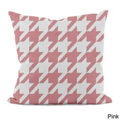 Bright Geometric Houndstooth 16x16-inch Decorative Pillow | Overstock.com Shopping - The Best Prices on Accent Pieces