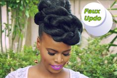 Quick & Easy Faux Updo on Ethnic Natural Hair | Mosaic NaturalHair - YouTube