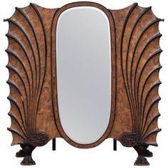 Exceptional Art Nouveau Mirrored Armoire