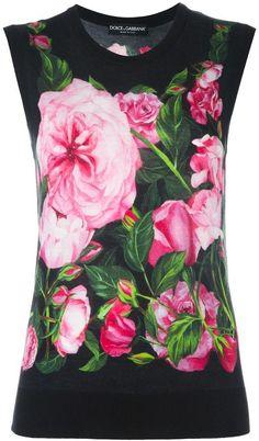 Dolce & Gabbana rose print tank top   https://api.shopstyle.com/action/apiVisitRetailer?id=614529932&pid=uid2500-37484350-28