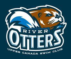 Upper Canada Swim Club River Otters logo http://sportdrawn.wordpress.com