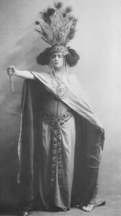 francoise rosay as salammbo in ernest reyer's opera, circa 1910