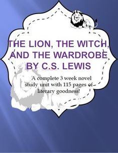 The Lion, the Witch and the Wardrobe is a complete 115 page, 3 week novel study guide. The guide is presented in natural chapter clusters and includes instruction and/or practice, as well as necessary digital materials, for:  Vocabulary development and practice (including cloze and a crossword) A coordinating Science demonstration Comprehension questions to use during reading Questioning strategies Literature circle cards – numbered by lesson to help you keep them organized for future ...