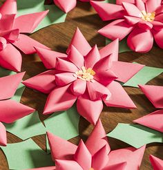 Diana Aydin demonstrates how to make paper poinsettias for your home or to share with friends. Read Johnna Laird's story about sending these flowers to a soldier in Afghanistan!