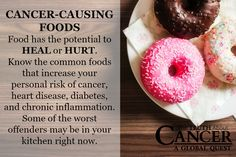 Do you know the top 10 cancer causing foods? It's time to learn them because they can actually cut your cancer risk IN HALF! Click on the image to get redirected and check them out. // The Truth About Cancer