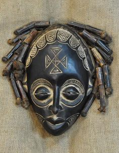 African masks and African statues from the Rasta people of Liberia. This Rasta Mask measures 12 inches tall. All About Africa, Out Of Africa, African Masks, African Art, Jamaican Restaurant, Textile Texture, Totems, Tribal Art, Headgear