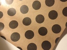 Black and Tan Polka Dot Wrapping Paper 30 inches x  12 feet