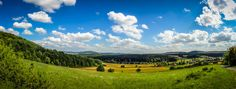 """Robert Emmerich - 1 PAN Landscape within the Thuringian Forest - Germany - Since the summer is soon gone I thought it would be nice to get a last and big landscape picture out before fall is all over... So here we go: This is a landscape shot as panorama (PAN) in the Thuringian Forest in Germany. The pictures where taken with my good """"old"""" Sony DCSW570 and sticked together with Photoshop. The post processing was done in Lightroom + some layer work and lens correction in Photoshop…"""