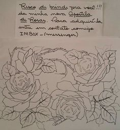Embroidery Flowers Pattern, Flower Patterns, Arte Popular, Fabric Painting, Art Sketches, Clip Art, Drawings, Artwork, Coloring