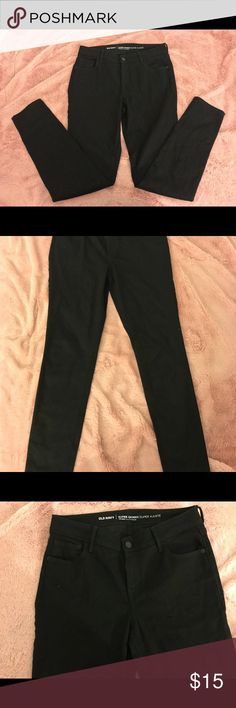 Cute Black Mid-Rise Jeggings// Only Worn Once🖤 Super Comfy, Goes With Almost Everything Old Navy Jeans Skinny