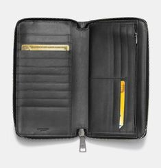 Coach Document Signature Logo Black Leather Zip Travel Wallet #25683 – Luxe Fashion Finds Important Documents, Just For Men, Travel Organization, Signature Logo, Perfect Match, Design Trends, Branding Design, Black Leather, Zip
