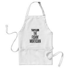 Fishing Mortician Adult Apron - fun gifts funny diy customize personal