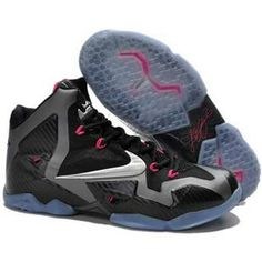 newest collection 9eacc 2e419 Authentic Black Metallic Silver-Dark Grey-Pink Flash Nike LeBron 11