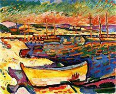 Litoral amarillo - 1906 - Óleo sobre lienzo. Georges Braque.