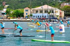 St Thomas Carnival 2012 SUP - Stand up Paddleboarding. Let's add it to the todo list :) so fun