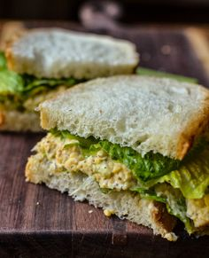 Yummy vegetarian (or vegan) alternative to tuna salad: Chickpea of the Sea Sandwich from The Kitchn