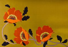 embroidered wallpaper!  how extravagant