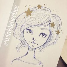 February 6th #dailydrawing [Stars]. #art #artstagram #drawing #illustration #sketch #sketchbook #doodle #ink #ballpointpen #metallic #stars #design #instaart #igdraws #creative_instaarts #abeautifulmess