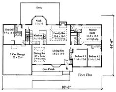 Stalls By Monster House Plans Plan 3 Bedroom Ranch House Floor Plans