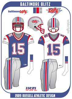 Football Uniforms, Football Helmets, The Blitz, Russell Athletic, Metallic Colors, Blue And Silver, Clothing, Outfits, Soccer Uniforms