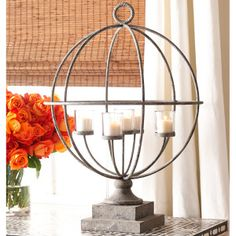 We love the look of worn Metal on a Candle Holder, this simple yet sophisticated piece is no exception.