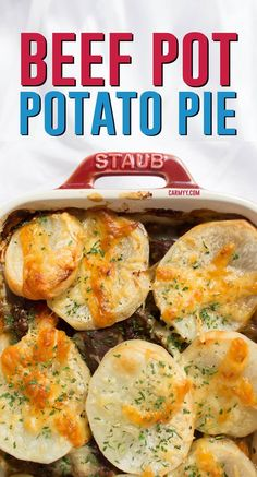 This hearty and delicious beef pot potato pie is the perfect comfort food for a rainy day. Best Beef Recipes, Lamb Recipes, Meat Recipes, Delicious Recipes, Favorite Recipes, Hamburger Recipes, Amazing Recipes, Healthy Recipes, Beef