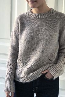 Ravelry: Magnolia pattern by Camilla Vad Knitting Stitches, Free Knitting, Raglan Pullover, Ravelry, How To Purl Knit, Striped Tee, Pulls, Drops Design, Knitting Projects