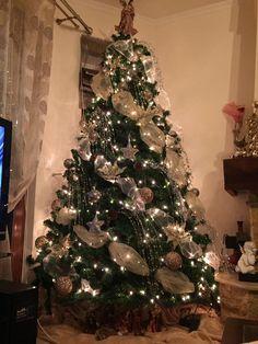 christmas tree ribbon ideas