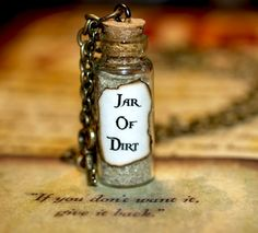 Necklace  Jar of Dirt and Key Disney Pirates by LifeistheBubbles, $13.00