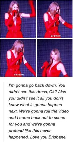 Oh my gosh, she is so cute! This was at my concert! I watched it all it was so funny and she was so cute and dealt with it well