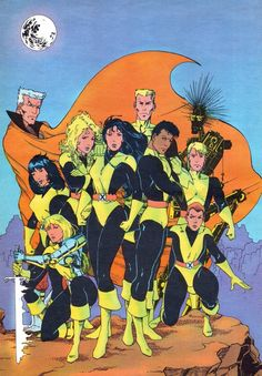 New Mutants by Salvador Larocca (circa 1990)