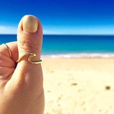 Thank you @msyaknowit sharing this pic of your @indieandharper 9k Solid Gold Wave Ring || Hope you love it babe || Available in our 'Mermaid' Collection || www.indieandharper.com