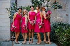 Coordinating Bridesmaid Styles: All in the same color with different styles | Be A Bride Blog