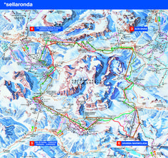 Full Size Piste Map For Canazei