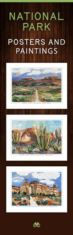 A wonderful gift for National Park & Monument travelers and enthusiasts. A colorful addition to any room, home, office or setting. A tribute to our treasured lands and ecological wonders. National Park Gifts, National Park Posters, Paintings Famous, Beach Paintings, Aztec Culture, Park Art, Mountain Art, Hyde Park, Walking In Nature