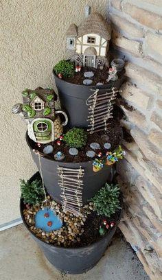 DIY Project Fairy Garden on a Budget https://www.onechitecture.com/2018/01/19/diy-project-fairy-garden-budget/ #LandscapingFrontYard