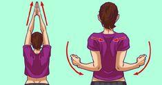 Boyun arnz hafifletecek 5 dakikalk egzersiz 5 exercises to fix rounded shoulders and neck pain Shoulder Tension, Neck And Shoulder Pain, Yoga Training, Posture Exercises, Stiff Neck, Lunge, Arm Muscles, Relieve Back Pain, Leg Pain