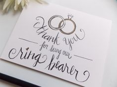 Thank you For Being Our Ring Bearer Card  by happydoodlesbykatie