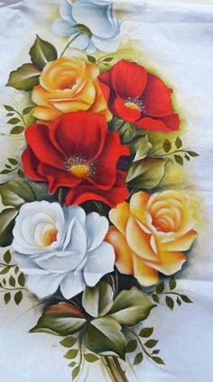 This post was discovered by si Canvas Painting Tutorials, Fabric Painting, Artist Painting, Arte Floral, Unique Drawings, Art Drawings, Cartoon Girl Images, Fabric Paint Designs, Beautiful Flowers Wallpapers