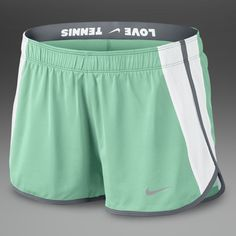 Nike Womens Power Shorts - Womens Tennis Clothing - Arctic Green-White-Cool Grey-Matte Silver