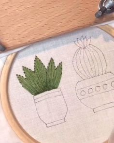 CACTUS SATIN STITCH🌵 - Welcome to our website, We hope you are satisfied with the content we offer. Cactus Embroidery, Basic Embroidery Stitches, Hand Embroidery Videos, Embroidery Flowers Pattern, Creative Embroidery, Learn Embroidery, Hand Embroidery Stitches, Embroidery Hoop Art, Hand Embroidery Designs