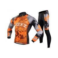 Men's Winter Thermal Fleece Long Sleeve Cycling Jerseys Mountain Bike Road Bicycle Padded\ Tights