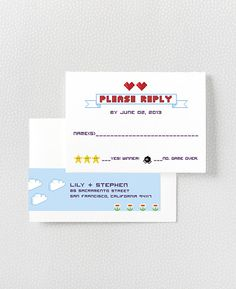 PIXEL PERFECT  RSVP Card