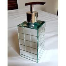 Porta Sabonete Líquido Vidro Espelhado Retangular 250ml