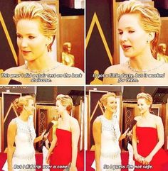 Jennifer Lawrence at the 86th Annual Academy Awards