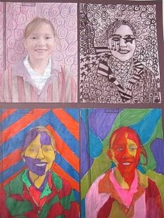 portraits - I remember doing this in high school.  They are probably still floating around somewhere in the studio!