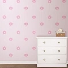 Wall Pops Pink Diasy Mini Pops Wall Decals - Wall Sticker Outlet