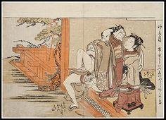 An erotic woodblock print by Isoda Koryusai, Prosperous Flowers of the Fashionable Twelve Months at Scholten Japanese Art. Japanese Geisha, Vintage Japanese, Japanese Art, Spring Pictures, True Art, Japanese Prints, Woodblock Print, Erotic Art, Cartoon Art
