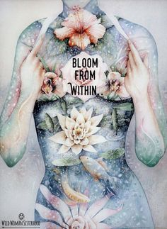When you begin to bloom from inside and find that Love that is deep within your Soul, you share that feeling with all that is. <3 -Mary Long-