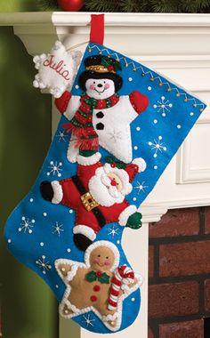 Christmas Stars Stocking kit by Bucilla